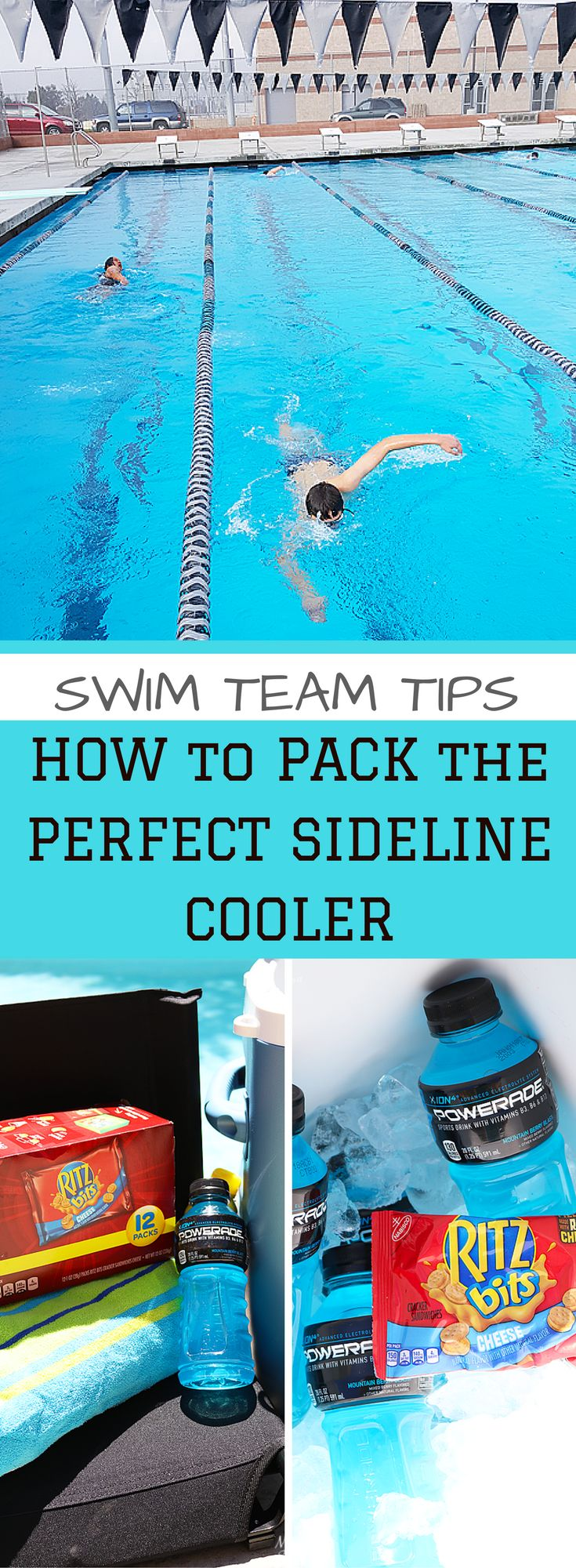 Swim Team Tips - How to pack the perfect sideline cooler #SaveSnackScore AD