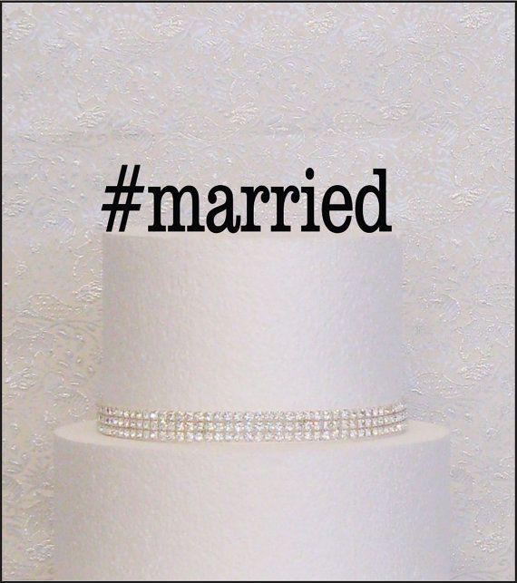 Verheiratete Hashtag Monogramm Hochzeitstorte von TheModernTopper