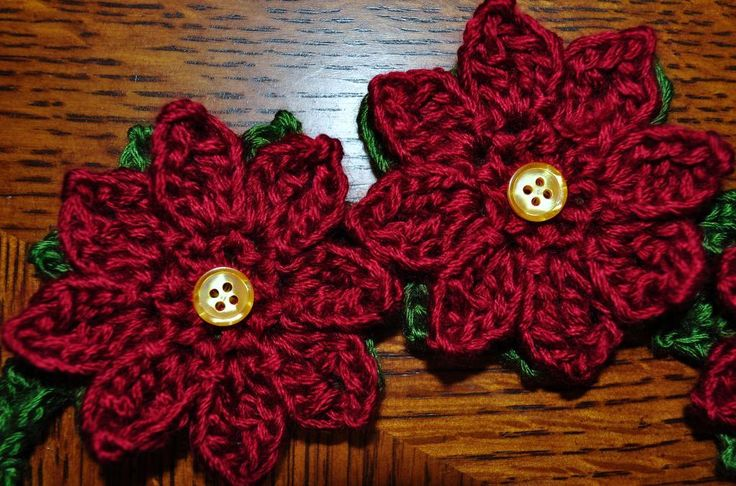 Poinsettia Garland Headband Flower Patterns And Crochet