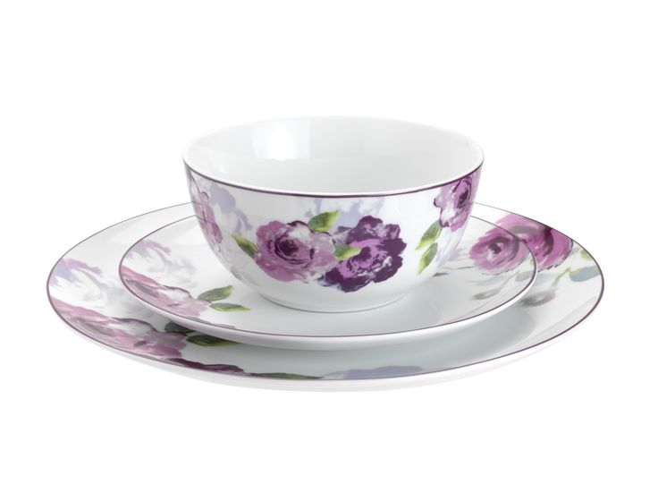 A modern take on vintage rose-print china, this supremely elegant dinner set will give mealtimes a sense of occasion. Priced at £40.
