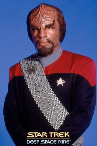 Star Trek: TNG and Deep Space Nine. Lt. Cmdr. Worf (Michael Dorn), resident Klingon badass.