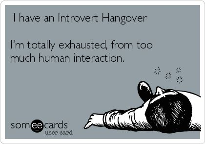 And I used to wonder why I'd go home exhausted from work...being an introvert at starbucks? It sucks!
