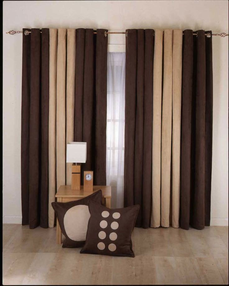 Living Room Curtain with table and pillow
