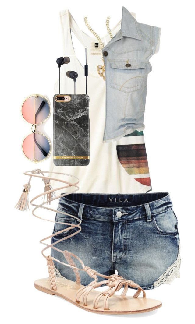 """""""Summer"""" by iamgl2002 ❤ liked on Polyvore featuring Quiksilver, Vila Milano, Nanette Lepore, Temple St. Clair, The House of Marley and ZeroUV"""