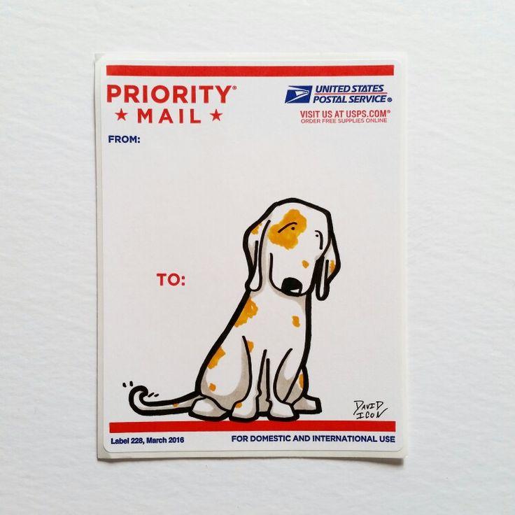 Cute cartoon dog sticker by david icon