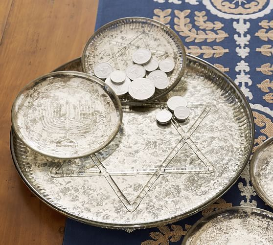 Gelt Tidbit Plates | Pottery Barn & 30 best Hanukkah: Dishes images on Pinterest | Hanukkah decorations ...