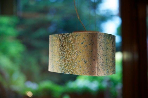 """Il Modellino della lampada """"Craque"""", realizzato in scala 1:5 prima di procedere alla costruzione del prototipo."""