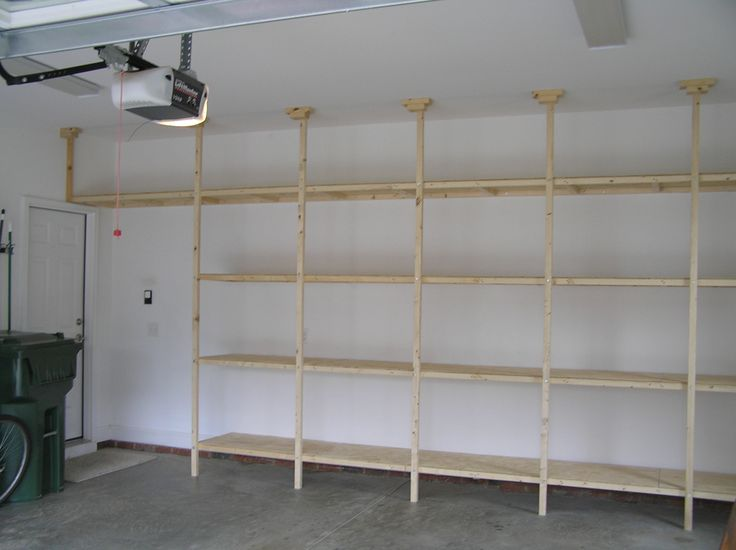 built-in garage shelves