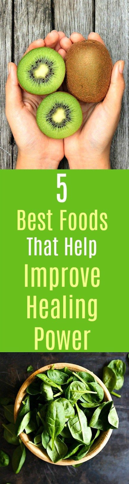 5 Best Foods That Help Improve Healing Power: Here are five of the best foods that contribute healthy nutrients and enhance healing powers. These five whole foods possess multiple numerous healing benefits from reducing cholesterol to fighting cancer, safeguarding against heart diseases to restoring damaged cells. Consume these super-healing foods and begin to feel healthier. #healingfoods #healthyfoods #kiwi #spinach #guava #cherries #beans