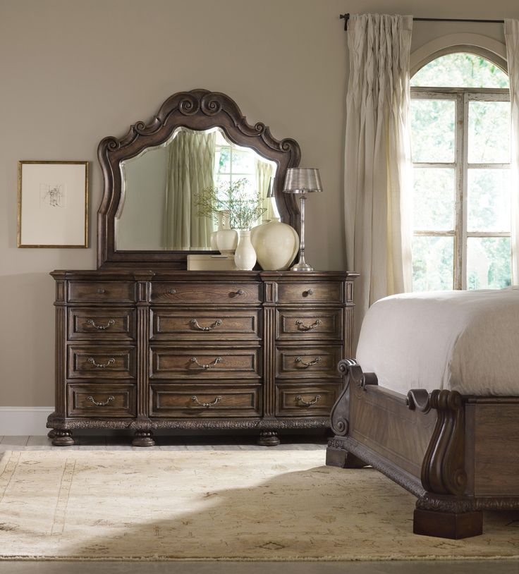 Great Rhapsody Twelve Drawer Dresser And Mirror Set By Hooker Furniture   Home  Gallery Stores. Old World ...