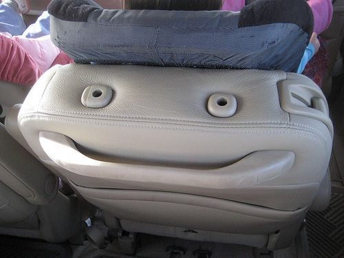 smiley car seat back