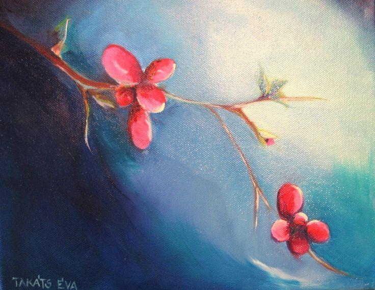 Budding life/ Bimbózó élet 25x30 oil, canvas 28.000 Huf takatseva@gmail.com