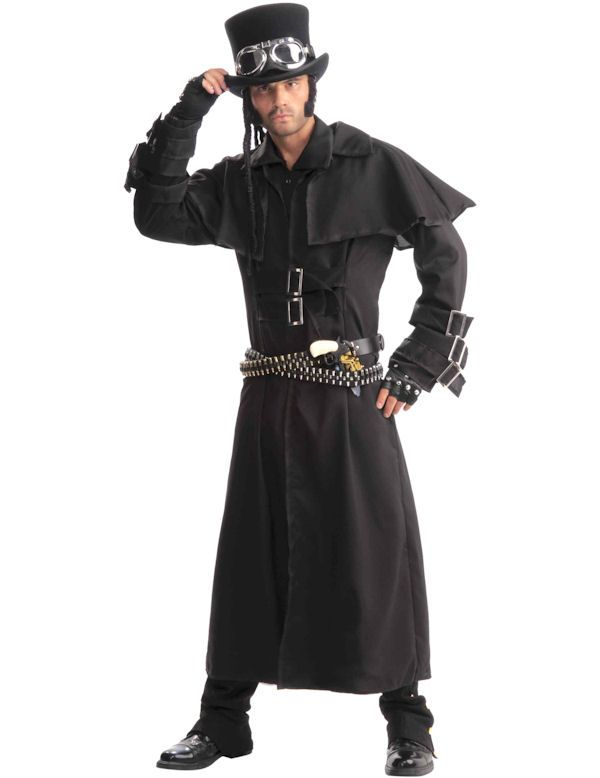 Black Steampunk Duster Coat