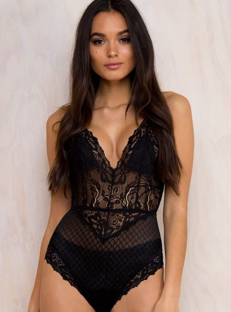Olivia Lace Bodysuit / Princess Polly Boutique / $55
