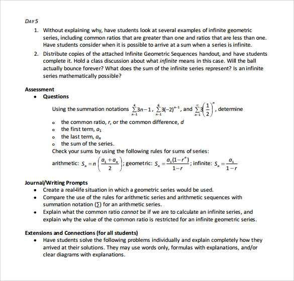 Geometric Sequence And Series Worksheet Sequence And Series Geometric Sequence Geometric Series Series and sequences worksheets