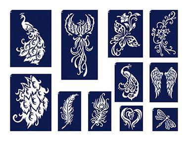 Csillámtetoválás Nőknek: készíts mintát a legszebb női sablonokból! http://tytoo.hu/noi-sablonok