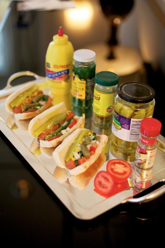 If you are having a Chicago-themed wedding, don't forget the Chicago-style hotdogs for your reception!