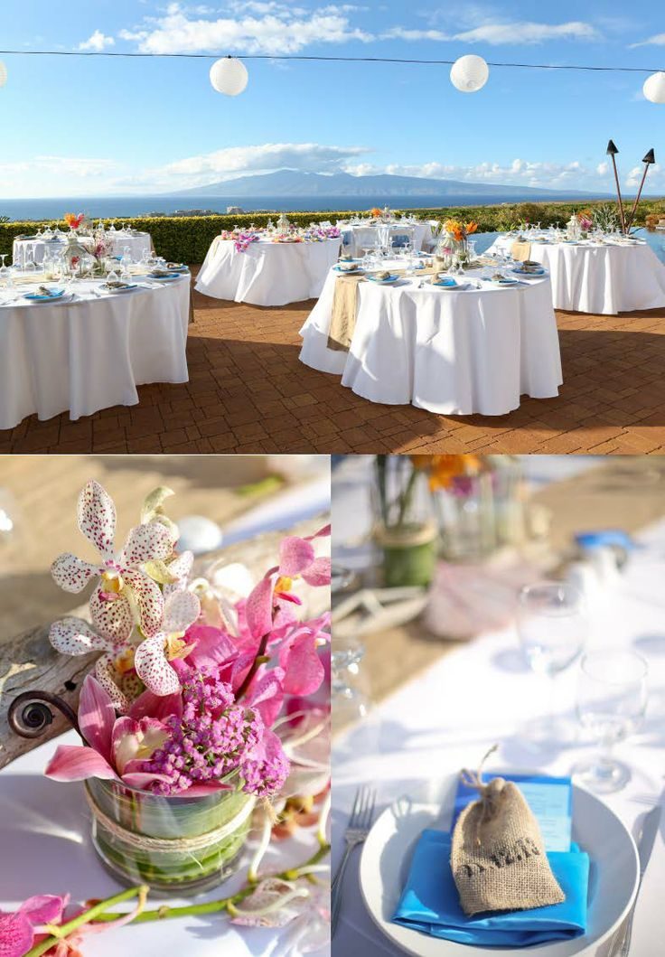 Wedding reception decor at coffee plantation hawaii for Coffee bar at wedding reception
