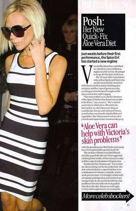 victoria beckham on aloe vera detox too!