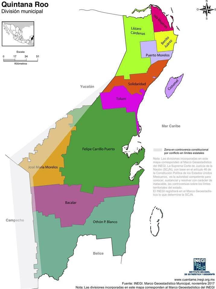 Mapa De Quintana Roo Para Colorear Y Con Nombres México Desconocido Mapas Fuente De Letras Cubiertas Para Carpetas