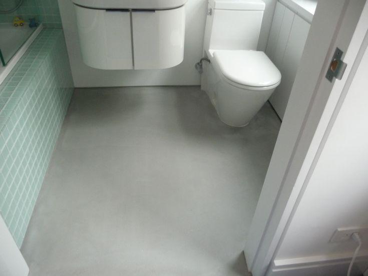 Image result for existing concrete slab in bathroom
