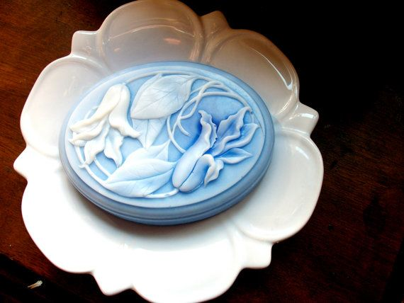SOAP Art Nouveau in Periwinkle Blue Scented in by thecharmingfrog on etsy