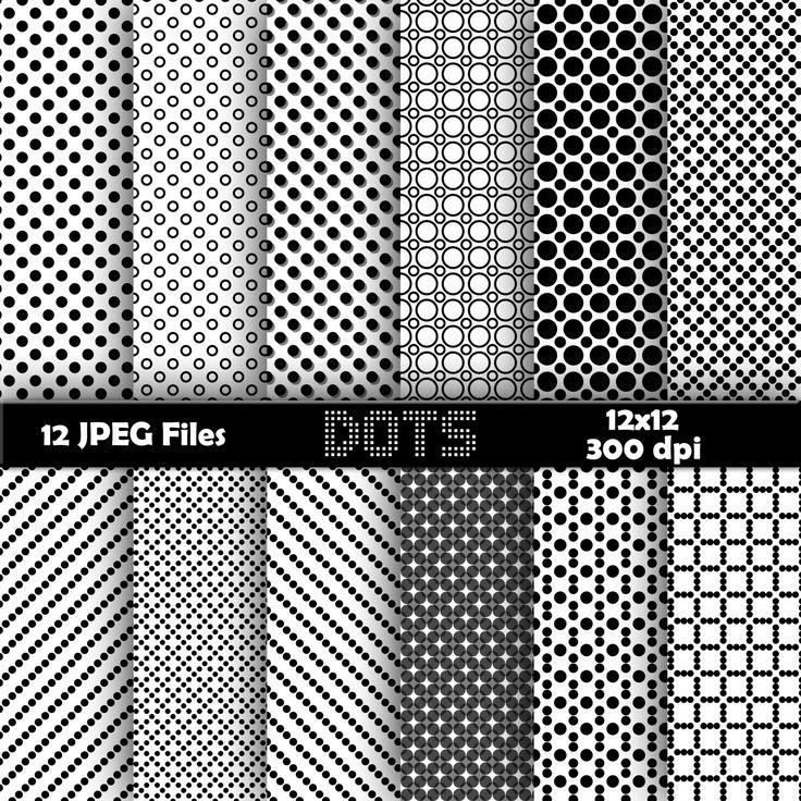 Dots digital paper, background, scrapbook by BearsDenDigitalArts on Etsy