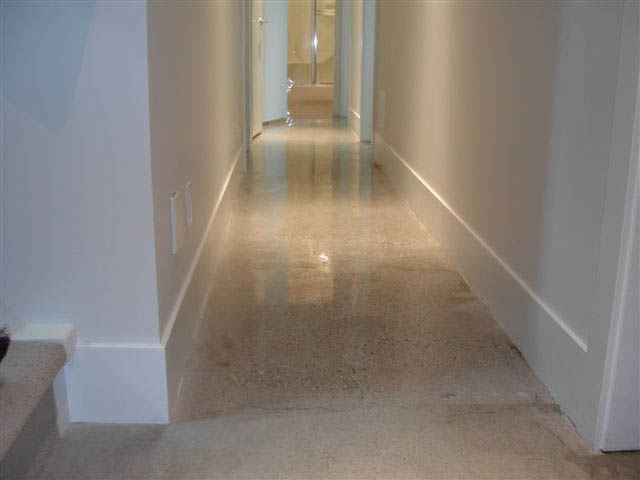 Polished concrete floor for basement apartment could for Are concrete floors cold