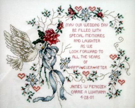 102 best Cross Stitch - Marriage images on Pinterest | Punto croce ...