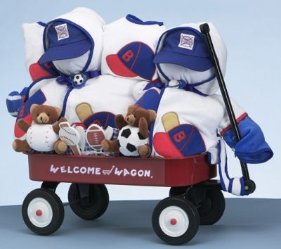 79 best baby shower gift baskets images on pinterest baby twin boys sports wagon set free shipping negle Images