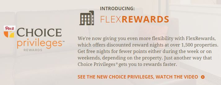 "Choice hotels adds ""FlexRewards"" - awards that cost less on different days of the week - http://www.pointswithacrew.com/choice-hotels-adds-flexrewards-awards-that-cost-less-on-different-days-of-the-week/?utm_medium=PWaC+Pinterest"