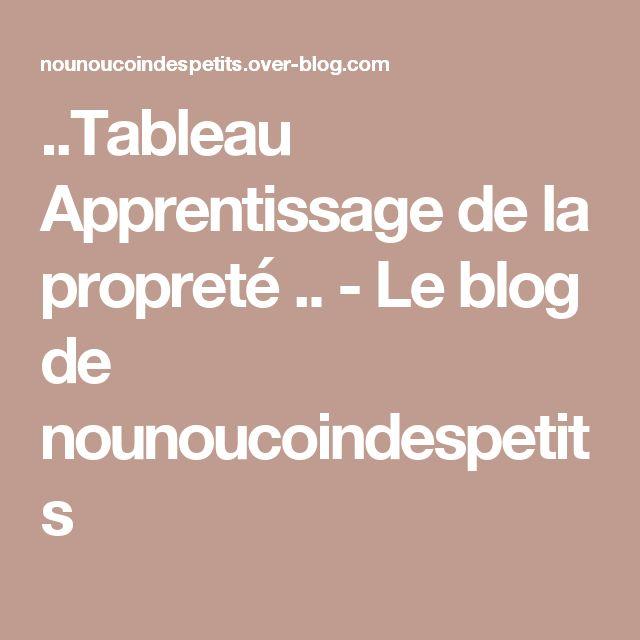 ..Tableau Apprentissage de la propreté .. - Le blog de nounoucoindespetits