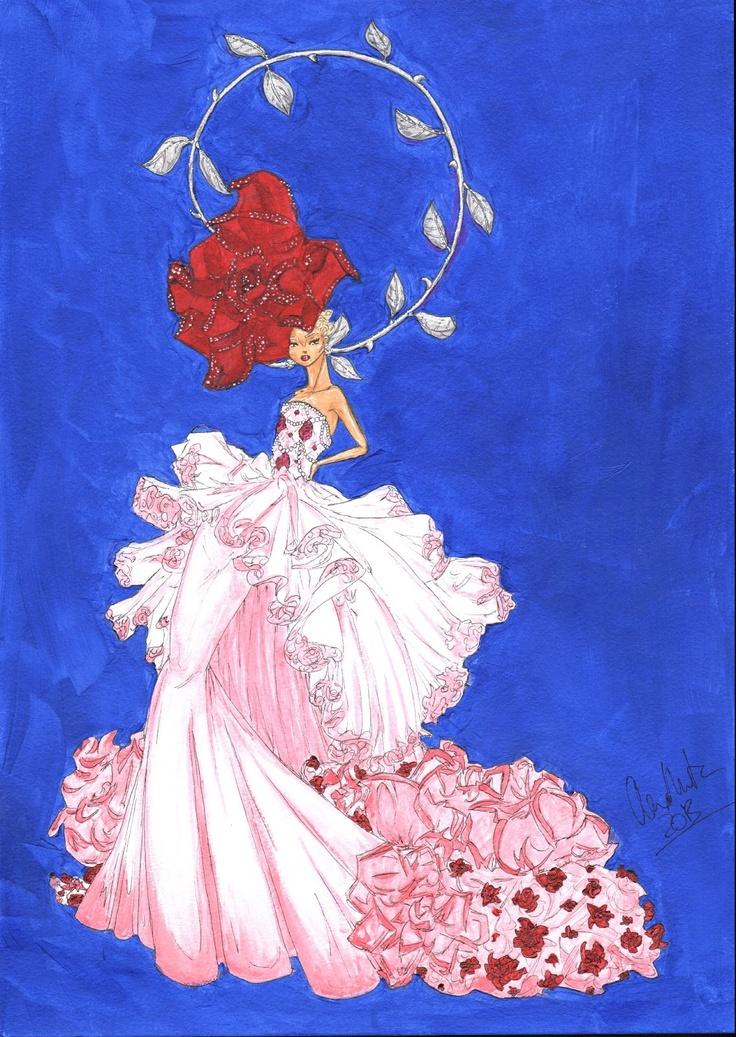 Alex Douglas Newton: Rose Ball Gown For Henry Hudson Flowers