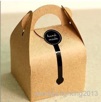 Atacado DIY Papel Kraft Tratada Bolo E Caixas de Embalagem de Presente Para o Casamento, Festa Festa, 10*10*14.5 cm