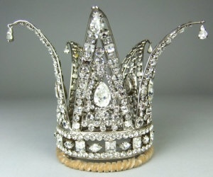 Fairy tale crystal Snow Queen coronet by Count Alexander.
