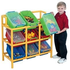 Portlight Childrens Factory Children's Factory Tilt Bin Storage, Multicolor, Plastic, 9