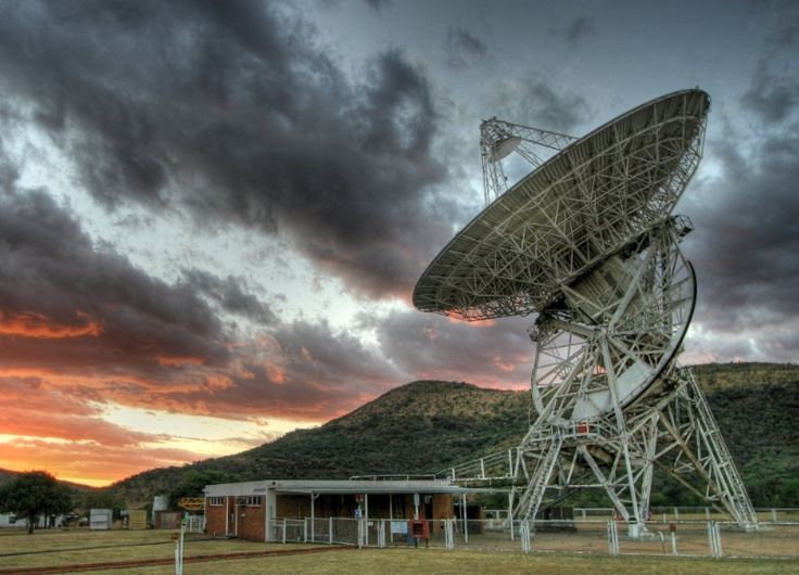 What I see everyday... 26m hartrao radio telescope... <3