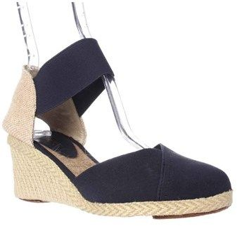 Lauren by Ralph Lauren Lauren Ralph Lauren Charla Closed-toe Espadrille Wedge Sandals, Navy.