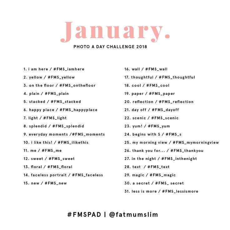 January Photo A Day Challenge 2018 - Fat Mum Slim