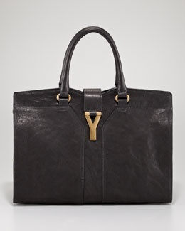 This should be my first black bag. | Yves Saint Laurent Cabas ChYc Tote, Medium: Cabas Totes, Black Bags, Yves Saint Laurent, Chyc Totes, Totes Bags, Cabas Chyc, Summer Nights, Tote Bags, Laurent Cabas