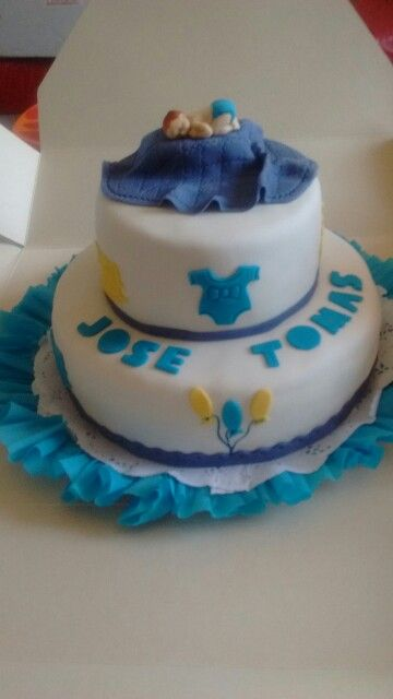 Torta baby shower niño