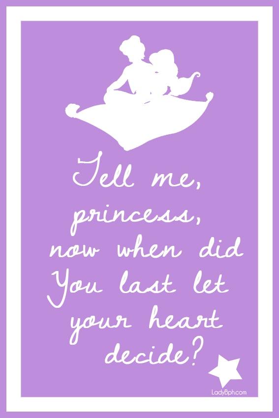 Printable Disney Princess quotes