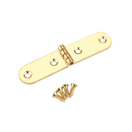 HIGHPOINT Hook Latch Small Polished Brass Plated 1-Piece with Screws