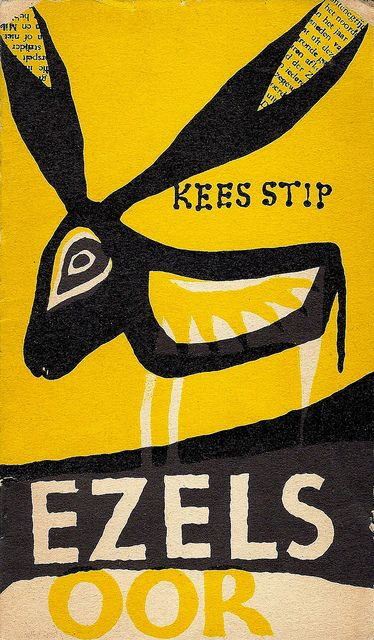 Kees Stip, Ezelsoor, 1957. Cover by Jenny Dalenoord