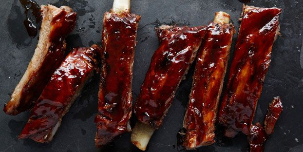 Roasted spareribs with tomato maple BBQ sauceBbq Ribs, Mmm Ribs, Roasted Spareribsw, Spare Ribs