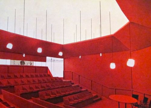 Franco Albini & Franca Helg, Auditorium for Milano Triennale 1957