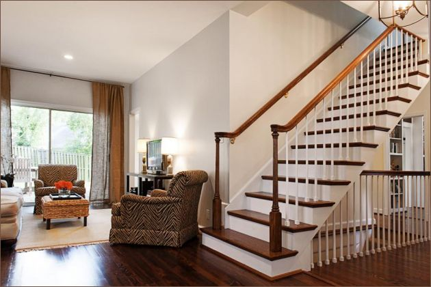 Best Stairs Home Sweet Bungalow Pinterest Basement Stair 400 x 300