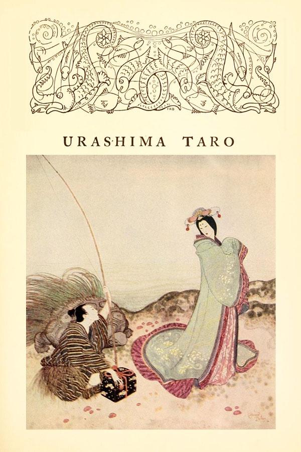Urashima Taro; A Japanese Fairy Tale - Edmund Dulac's Fairy-Book, 1916