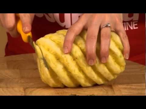 How to cut a pineapple - GoodFood.com - BBC Food - YouTube
