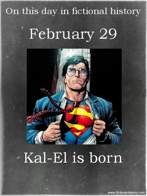 On this day in fictional history: February 29, Kal-El is born #Dc #DcComics…